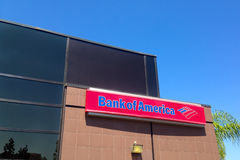 Bank of America sign and building Royalty Free Stock Image