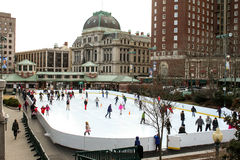 Bank of America Skating Rink, Providence, RI Stock Photos