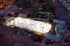 Bank of America Skating Rink, Providence, RI Stock Photo