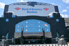 Bank of America Stadium. CHARLOTTE NC USA JUNE 20 2016: Bank of America Stadium is a 75,412-seat football stadium in Charlotte, USA. It is the home facility and Royalty Free Stock Photo