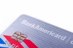 Bank of Amerika-Bargeld vergütet Kreditkarte Stockbilder