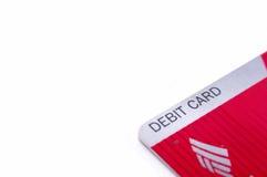 Bank of Amerika-Debetkreditkarte Lizenzfreie Stockfotos