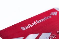 Bank of Amerika-Debetkreditkarte Lizenzfreie Stockbilder