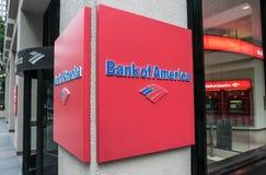 Bank of Amerika-Zeichen Stockbild