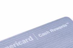 Bank Amerykański gotówka nagradza kredytową kartę Zdjęcia Royalty Free