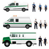 Bank armored car Royalty Free Stock Photography