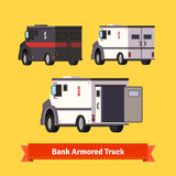 Bank armoured cars. Flat style vector illustration Stock Image