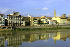 A bank of the Arno river, Florence, Italy. Bank of  the Arno river in Florence, Tuscany, Italy Stock Photo