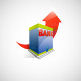 Bank and arrow icon Royalty Free Stock Photography