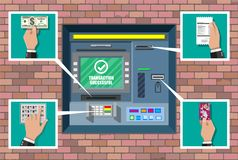 Bank ATM. Automatic teller machine. Royalty Free Stock Photos
