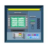 Bank ATM automatyczny Atm ścinek odizolowywał maszynowego ścieżki ekranu narratora Zdjęcie Stock