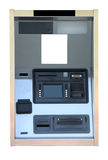 Bank ATM Cash Machine Kiosk. Isolated on a white background with copy space Royalty Free Stock Photography