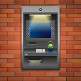 Bank ATM. Outdoor ATM machine, deposit or withdrawal. Vector illustration EPS 10 vector illustration