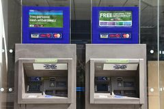 Bank ATMs Stock Photo