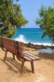Bank auf dem Strand Lizenzfreie Stockbilder