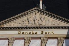Bank av Danmark i huvudstad Arkivfoto