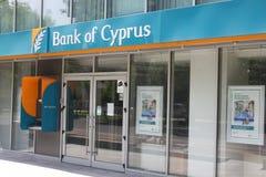 Bank av den Cypern filialen Royaltyfri Fotografi