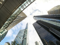 Bank av det Kina tornet Hong Kong Arkivfoton