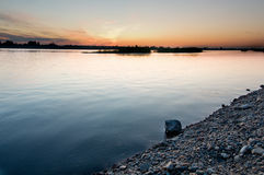 Bank av floden Arkivbild