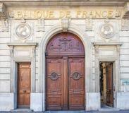 Bank av Frankrike i Marseille Arkivfoto
