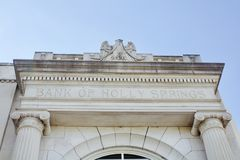 Bank av Holly Springs Royaltyfria Foton