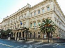 BANK AV ITALIEN PALAZZO KOCH, ROME - ITALIEN arkivbild