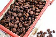 Bank av kaffebönor Royaltyfria Foton
