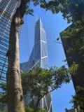 Bank av Kina som bygger Hong Kong arkivbild