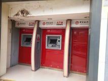 Bank av Kina 24 timmar självbetjäningpunkt Arkivfoton