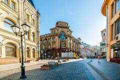 Bank av Moskva Arkivfoto