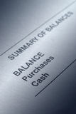 Bank balance statement Royalty Free Stock Images
