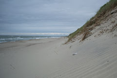 Bank of Baltic sea, curonian spit. View to Baltic sea from the curonian spit, Russia stock photos