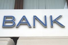 Bank. Bank sign Stock Images