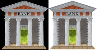 Bank, Banking Building Illustration isolated Royalty Free Stock Photography
