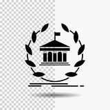 Bank, banking, online, university, building, education Glyph Icon on Transparent Background. Black Icon. Vector EPS10 Abstract Template background royalty free illustration