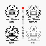 Bank, banking, online, university, building, education Icon in Thin, Regular, Bold Line and Glyph Style. Vector illustration. Vector EPS10 Abstract Template vector illustration
