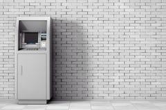 Bank-Bargeld ATM-Maschine Wiedergabe 3d Lizenzfreie Stockfotografie