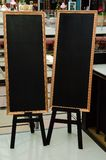 Bank black board (menu board) Stock Image