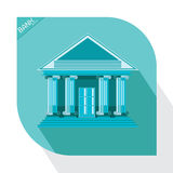 Bank blue icon building business market money office Stock Images