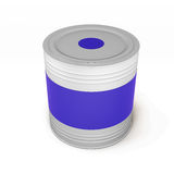 Bank of blue paint  on white background, 3d rendering Stock Image