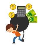 Bank bonds design. Illustration eps10 graphic Stock Images