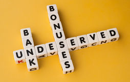 Bank,  bonuses,  undeserved Stock Photos