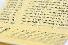 Bank Book. Close Up Bank Book Accounting Royalty Free Stock Image
