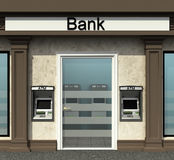Bank branch with automated teller machine Stock Image