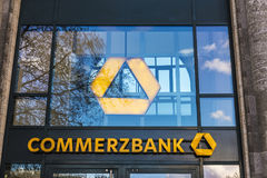 Bank branch of Commerzbank in Berlin, Germany stock photography