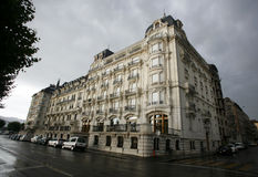 bank buiding Geneva Obraz Royalty Free