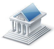 Bank Building. Vector illustration of bank building on white background