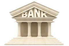 Bank Building. Illustration of 3d image of Bank building in marble Stock Photo