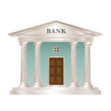 Bank building. In the style of a classical Greek or Roman temple Stock Image