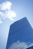 Bank building. On blue sky and cloud Stock Photography